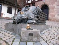 Hasen und Teddybär by Olga Sander