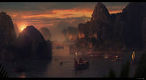 A Ha Long Sunset von Sebastien Hue