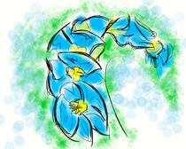 Blue Orchid by Jerry Fess