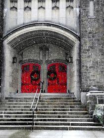 Red Doors n Snow  von Thomas Polk