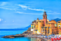 Die Altstadt der Küstenstadt Camogli von Gina Koch