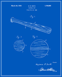 Baseball Bat Patent - Blueprint von Finlay McNevin