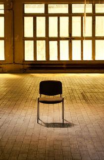 Lone chair empty hall  by Arletta Cwalina