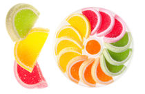 multicolored chewy gumdrops sweets by Arletta Cwalina