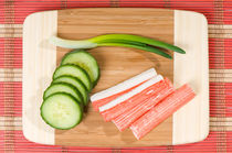 Crab sticks of surimi and cucumber by Arletta Cwalina