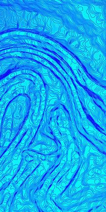 Wasserlauf  /  Watercourse abstract - Triptychon 3/3 by crazyneopop
