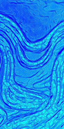 Wasserlauf  /  Watercourse abstract - Triptychon 2/3 by crazyneopop