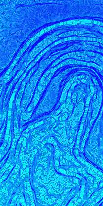 Wasserlauf  /  Watercourse abstract - Triptychon 1/3 by crazyneopop