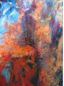 Abstrakt,blau-rot von Anna Czempik