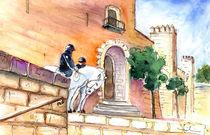 White Horses By The Cathedral In Palma De Mallorca 02 von Miki de Goodaboom