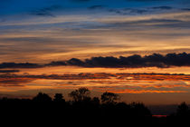 Twilight colorful sunset with trees by Arletta Cwalina