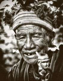 ifugao old smoker by JACINTO TEE