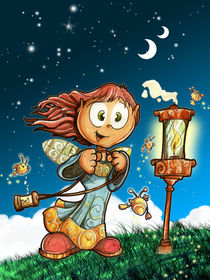 Little faerie and oil lamp von Luis Peres