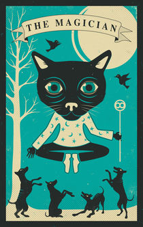 TAROT CARD CAT: THE MAGICIAN by Jazzberry  Blue