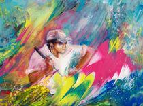 Golfing In Augusta von Miki de Goodaboom