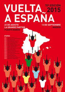 MY VUELTA A ESPANA MINIMAL POSTER ETAPAS 2015 by chungkong