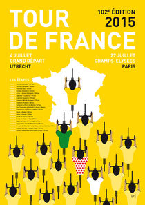 MY TOUR DE FRANCE MINIMAL POSTER ETAPES 2015 by chungkong