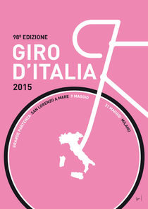 MY GIRO D'ITALIA MINIMAL POSTER 2015 by chungkong