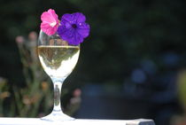 Wine and Flowers on a Summers Day by Dave  Byrne