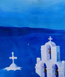 Enchanting Santorini, Greece - View from Oia by M.  Bleichner