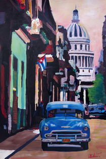 Havanna Kuba Kapitol mit Oldtimer von M.  Bleichner