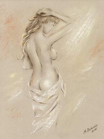 'Göttin der Morgenröte beim Sonnenbaden - Aktmalerei weiblich' by Marita Zacharias