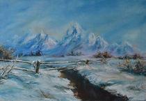 winter landscape by Esanu Natalia