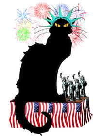 Le-chat-noir-patriotic