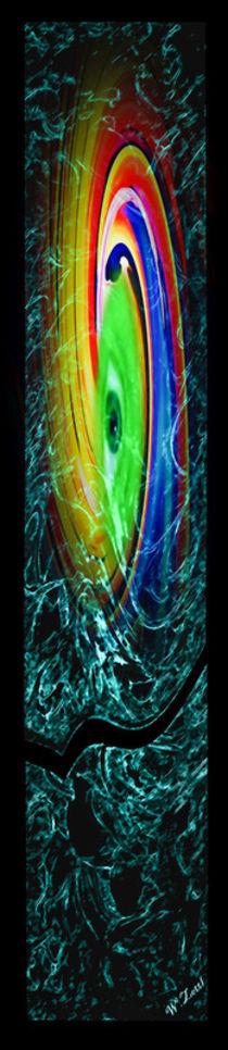 Gemälde Abstrakt by Walter Zettl