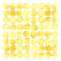 Imperfect Geometry Yellow Circles von Nic Squirrell