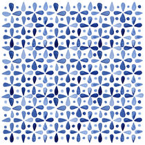 Imperfect Geometry Blue Petal Grid von Nic Squirrell