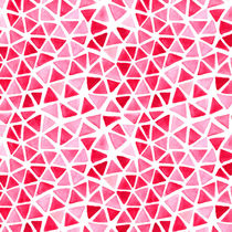 Imperfect Geometry Pink Triangles by Nic Squirrell