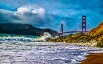 Golden Gate Bridge, San Francisco von Lev Kaytsner