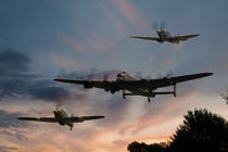 BBMF Low Pass at Sunset by Steve H Clark Photography