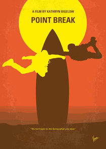 No455 My Point Break minimal movie poster von chungkong