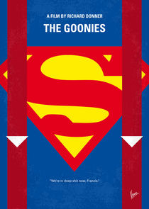 No456 My The Goonies minimal movie poster by chungkong