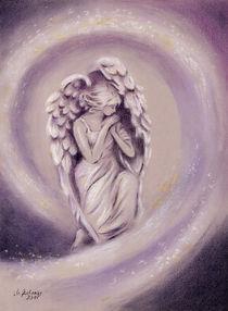 Engelgemälde Schutzengel - religiöse Malerei by Marita Zacharias