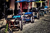 Fährräder auf der Straße