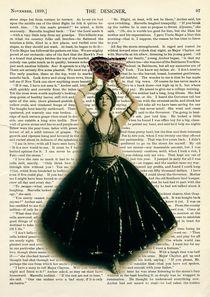 "Vintage dictionary poster, ""Ballerina Butterfly"" von Gloria Sánchez"
