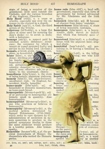 "Vintage dictionary poster, ""The Dance of the Snail"" by Gloria Sánchez"