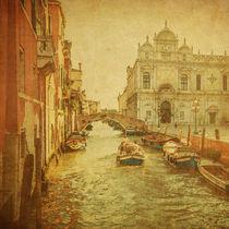 Vintage image of Venice canals by Konstantin Kalishko