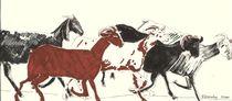 GOATS RUNNING by Elisaveta Sivas