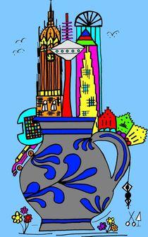 Frankfurt goes Bembel. Blau. by Hans-Peter Scherbaum