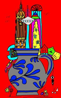 Frankfurt goes Bembel. Rot. by Hans-Peter Scherbaum