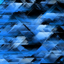 Abstract geometric blue von Gaspar Avila