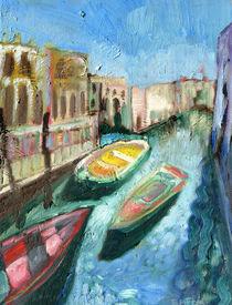 Three Boats Venice by Elizabetha Fox