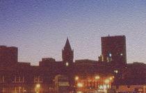 Picadilly Night Skyline by Elizabetha Fox