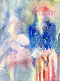 Vogue Watercolour Painting by Elizabetha Fox