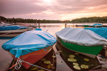 Zwei Boote im Sonnenuntergang by Pascal Betke
