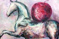 Horse with apple von Elisaveta Sivas